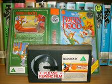 Betamax *ROBIN HOOD* RARE Disney Home Video UK Issue - Original Animated Classic