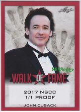 2017 Pop Century Walk Of Fame Nscc Proof:John Cusack #1/1 Blank Back Serendipity