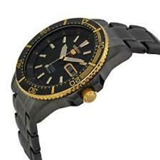 Seiko Men's 5 Automatic SRP558K Black Ion Gold Stainless-Steel Automatic Watch