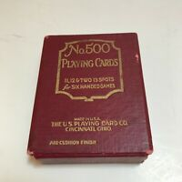 Vintage No. 500 US Playing Card Co. Cincinnati Gryphon Backs for 6 handed games