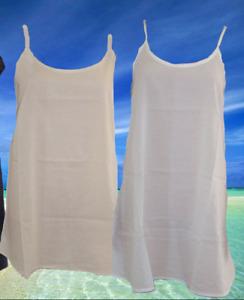 100% Cotton Slip. Bias Cut Petticoat. Undergarment. Sizes S, M, L, XL, 2XL, 3XL