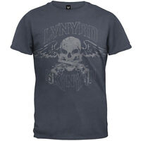 LYNYRD SKYNYRD T-Shirt Biker Patch Skull Wings New Authentic S-2XL
