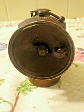 Antique Auto-Lite Coal Miners Brass Lamp Universal Lamp Co. Springfied, USA