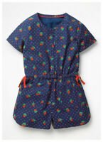 Girls Play-Suit Strawberry Navy NEW Ex Boden Age 2-16 Years RRP £24-£28