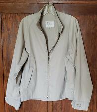 Vintage London Fog Full Zip Jacket Mens 42 Reg Tan Waist Coat Windbreaker