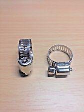 "1 PAIR - 1/2"" ~3/4"" Adjustable Steel Hose Clamps Fuel Line Worm Clip"