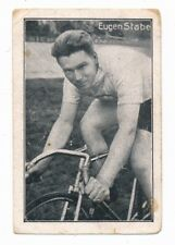 1926 EUGEN STABE Greiling Cycling Card Germany Bicycle Racing Radsport B&W Small