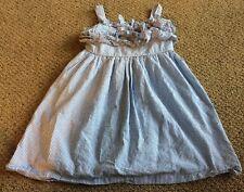 RALPH LAUREN Girls Ruffles Pinstriped Lined Sundress Dress Sz 12 VGUC