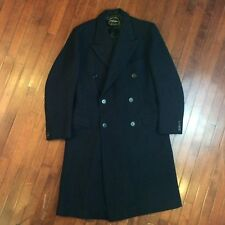 D'Andrea NY Vintage 1940s Mens Large Double Breasted Peak Overcoat Trench Coat