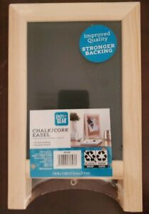 Pen + Gear Desk Chalk and Cork Double Sided  board Easel. Brand New Sealed!
