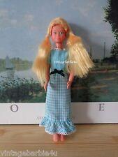 Quick Curl Skipper Dress & Strawberry Blonde Wig Vintage Barbie Skipper Doll sz