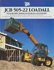 Brochure - JCB - 505-22 Loadall - Telescopic Materials Handler - c1990 (LT512)