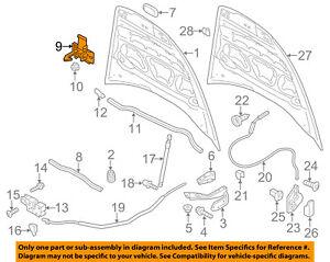 PORSCHE OEM 15-16 Cayenne Hood-Lock Latch Striker 95851148001