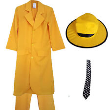 CHILDRENS / ADULTS YELLOW SUIT TIE HAT FANCY DRESS COSTUME HALLOWEEN MOVIE
