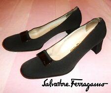 Salvatore FERRAGAMO ~ BROWN canvas shoes ~ US: 8.5 ; EUR: 38.5 - 39 * AUTHENTIC