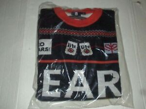 Miller Lite Beer Chicago Bears Ugly Christmas Sweater Sz L Holidays NFL Football