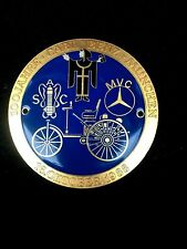 vintage automotive enameled metal anniversary plaque, 100 years Carl Benz, 1988
