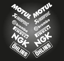 12 X Belly Pan Fairings Motorcycle Track RACING STICKERS Sponsor Vinyl Decals