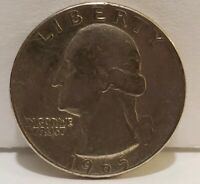 Collector Coin Money 1965 Washington Quarter 25 Cent USA Currency Change