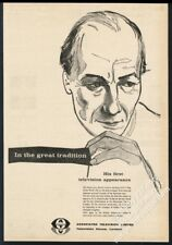 1959 John Gielgud portrait A Day By The Sea ATV TV trade vintage print ad