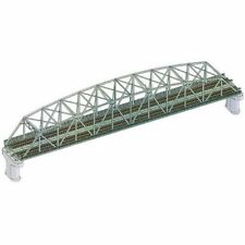 TOMIX N gauge 3222 double track song chord large truss iron bridge (F) (green).