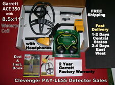 Ace 350 Garrett Factory Metal Detector with Headphones Fast Free Shipping