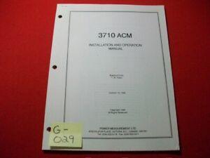 POWER MEASUREMENT LTD. 3710 ACM POWER METER INSTALLATION & OPERATION MANUAL EXC.