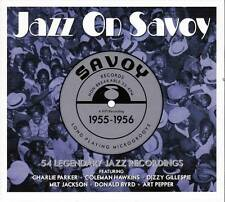 JAZZ ON SAVOY 1955-1956 - 54 LEGENDARY JAZZ RECORDINGS (NEW SEALED 3CD)