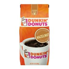 DUNKIN' DONUTS COFFEE HAZLENUT Ground Flavored 12 oz Bag, Fast Shipping