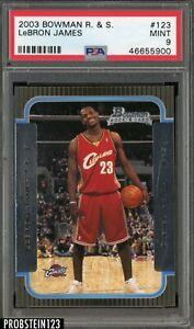 2003-04 Bowman #123 LeBron James Cleveland Cavaliers RC Rookie PSA 9