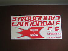 Cannondale Stickers  Set  Red, White & Silver.