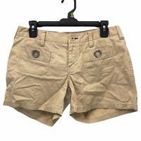 Tommy Hilfiger Womens Shorts Beige Pockets Low Rise Flat Front Belt Loop 4