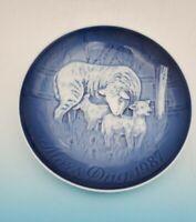 1987  Bing & Grondahl B&G Mother's Day Plate SHEEP & LAMB  No Box