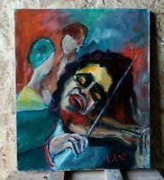 Peinture Acrylique sur Toile Signé Peintre Contemporain TBE