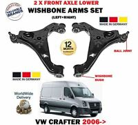 FOR VW CRAFTER 2.5 TDI 2006-> LEFT + RIGHT FRONT AXLE WISHBONE TRACK CONTROL ARM