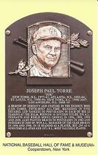 JOE TORRE -Baseball Hall of Fame- INDUCTION Plaque Postcard- 2014-COOPERSTOWN