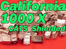 Lot 1000 Pcs CAT5 Shielded RJ45 8p8c Network Cable Modular Connector Plug End 5e