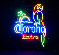Corona Extra Parrot Party Man Cave Handmade LED Neon Sign Light Game Room Party
