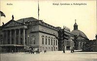 Berlin alte AK ~1910 Königliches Opernhaus Oper Hedwigskirche Kirche ungelaufen
