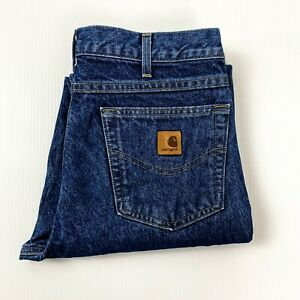 Carhartt Size W32 L32 Mens Relaxed Fit Mid Wash Blue Jean