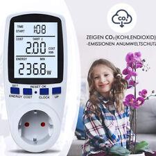 16A Energiekostenmessgerät Stromzähler Steckdose Wattmeter mit LCD-Display Neu