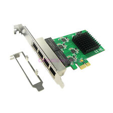 4-Port 10/100/1000M Gigabit Network Lan Card PCI Express Controller Adapter Win8