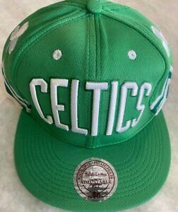Mitchell & Ness BOSTON CELTICS Snapback Hat Cap NBA HARDWOOD CLASSICS