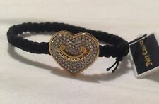 Juicy Couture Braided Hair Elastic, Pave Heart ❤️ Charm