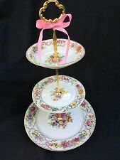 Rosenthal Dresden Wedding Cake Stand 3 Tier Serving Tray Classy Antique China