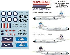 """RAAF P-3B&C Orion """"Hi-Vis"""" Decals 1/72 Scale N72025"""