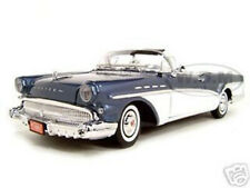 1957 BUICK ROADMASTER CONVERTIBLE BLUE 1/18 DIECAST MODEL CAR BY MOTORMAX 73152