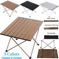 Ultralight Portable Aluminum Folding Table Camping Garden Picnic With Bag