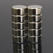 10Pcs N52 10mm x 5mm  Super Strong Cylinder Round Rare Earth Neodymium Magnets