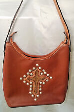 Montana Silversmiths Cowgirl Western Tooled Leather Hobo Handbag Horse Hair